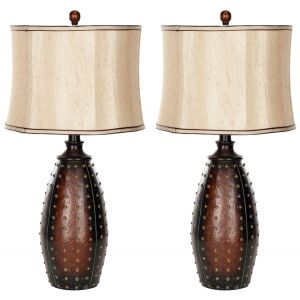 Faux Leather Table Lamp (Set of 2), LIT4038