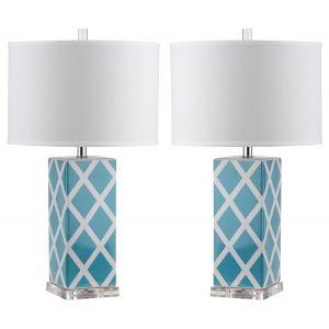 Ceramic Lattice Table Lamp (Set of 2), LIT4134