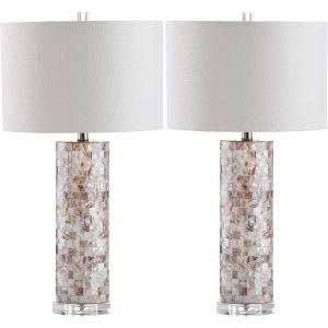 Capiz Shell Tiled Table Lamp (Set of 2), LIT4292